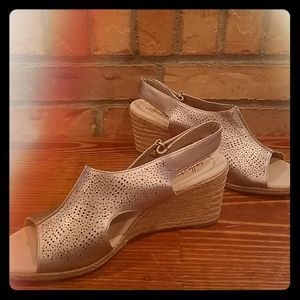 Gorgeous Clarks wedges